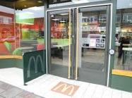 Commercial Aluminium Doors with external safety barrier