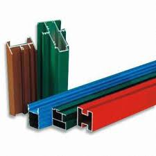 Polyester Powder Coated aluminium profiles in a variety of finishes