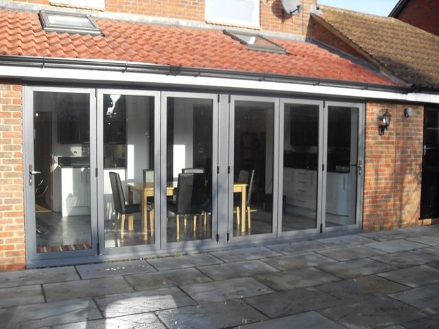 Grey powder coated aluminium bifolding doors are one example of where Grey has become the most popular colour after white.
