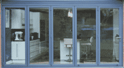 Aluminium Bifolding Doors enjoy slim sight lines and are aesthetically pleasing particularly when shut.