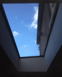 The Howells Patent Glazing Skylight offers minimal sight lines and maximum glass when viewed from the inside.