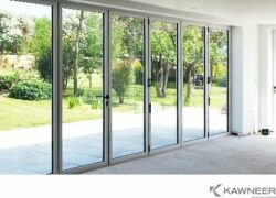 Kawneer aluminium folding door.