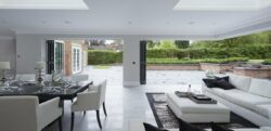 New house with origin folding doors.