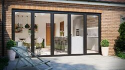 warmcore bifolding doors in a new extension